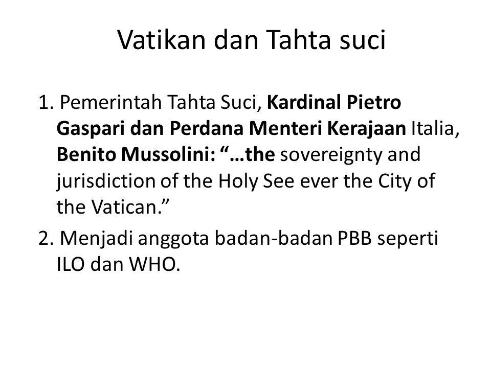 Vatikan dan Tahta suci