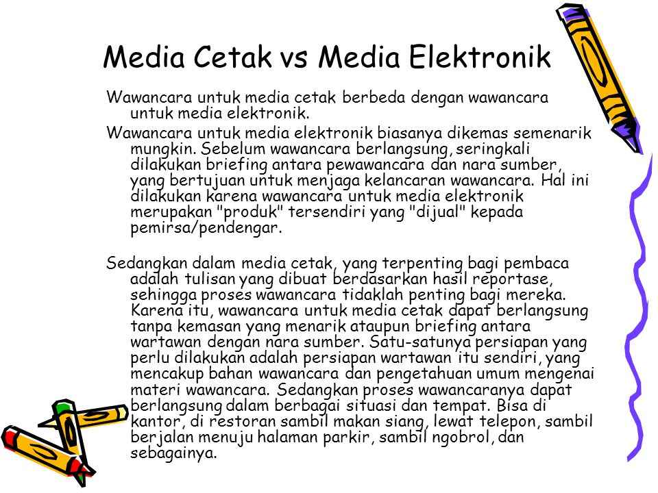 Media Cetak vs Media Elektronik