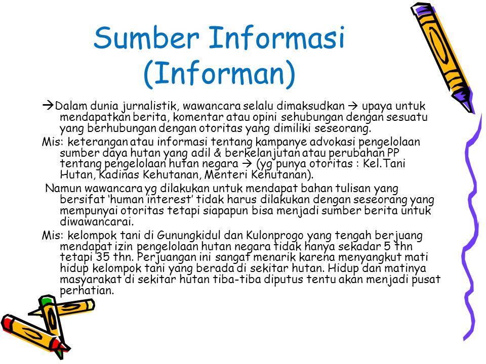 Sumber Informasi (Informan)