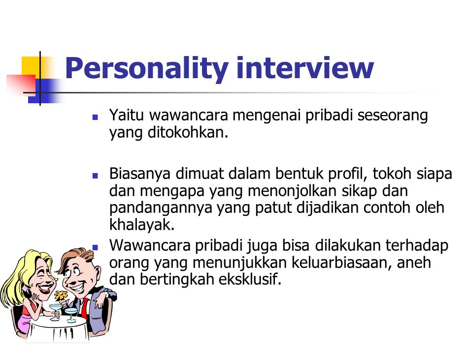 Personality interview