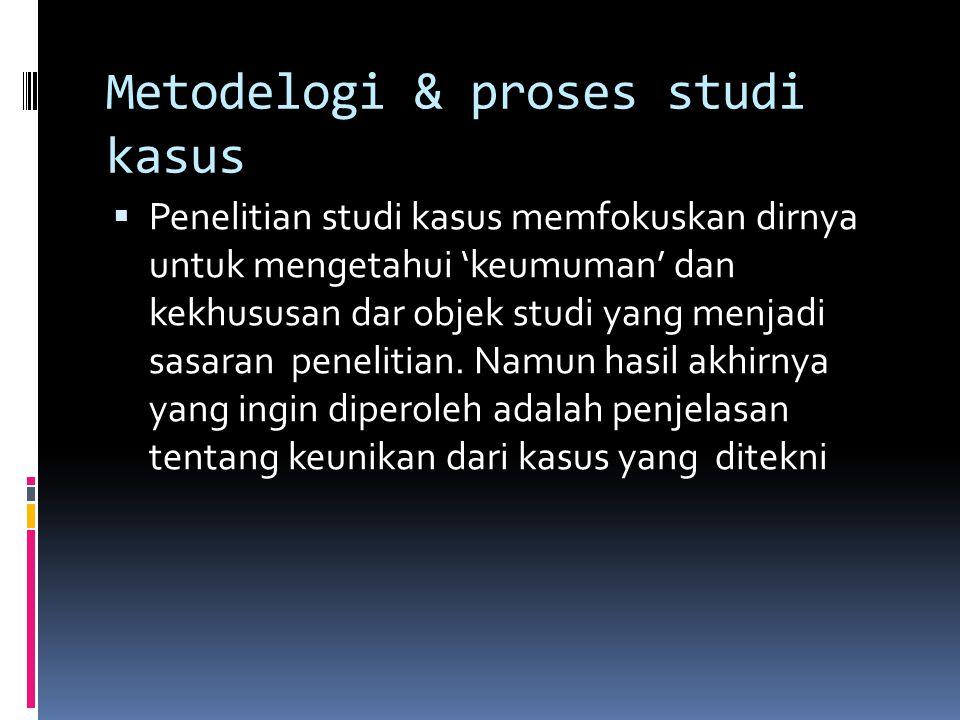 Metodelogi & proses studi kasus