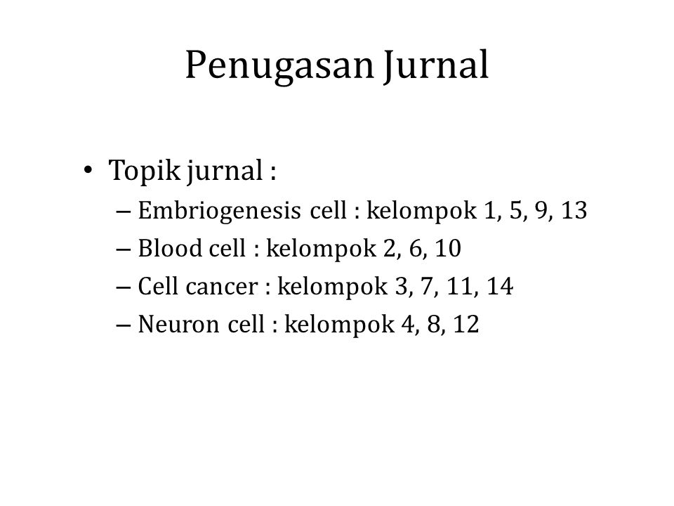 Penugasan Jurnal Topik jurnal :