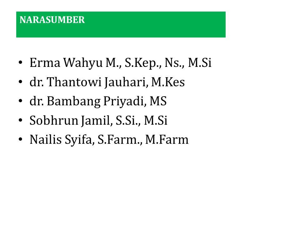 dr. Thantowi Jauhari, M.Kes dr. Bambang Priyadi, MS