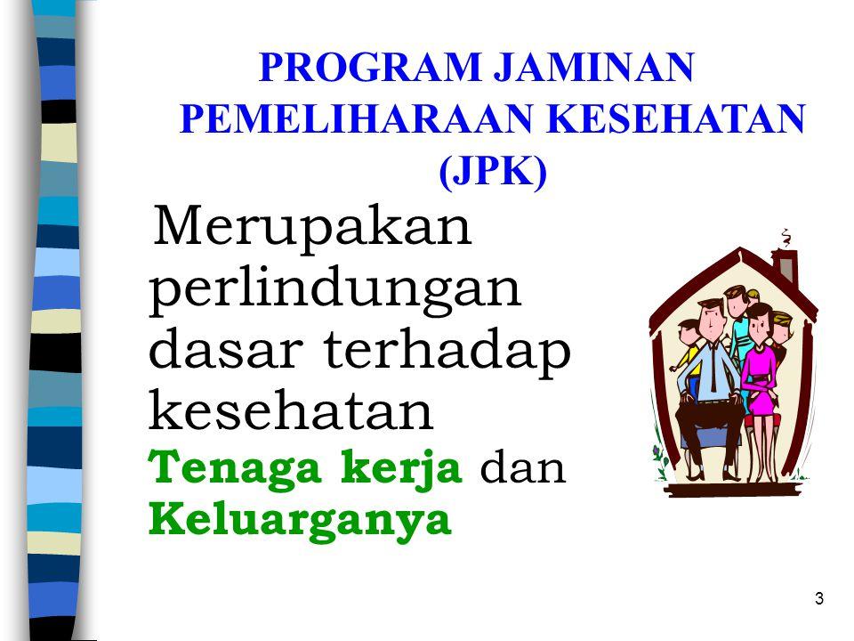 PROGRAM JAMINAN PEMELIHARAAN KESEHATAN (JPK)