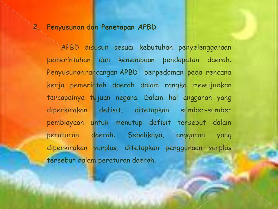 2. Penyusunan dan Penetapan APBD