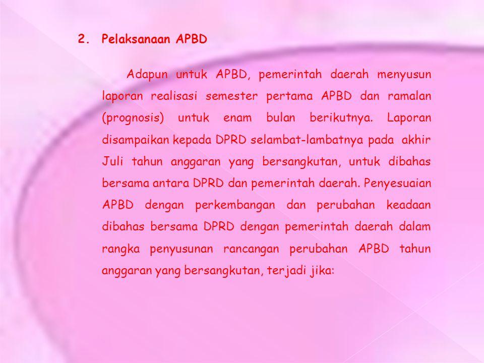 2. Pelaksanaan APBD