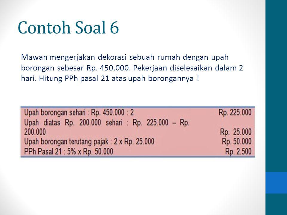 Contoh Soal 6