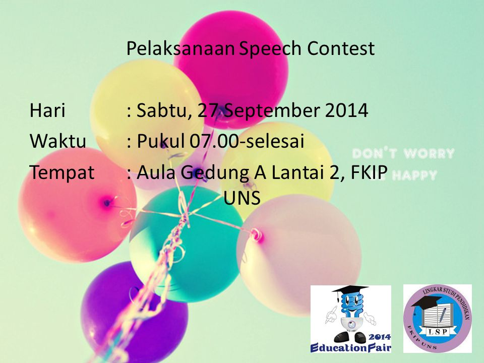 Pelaksanaan Speech Contest