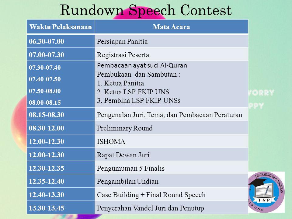 Rundown Speech Contest