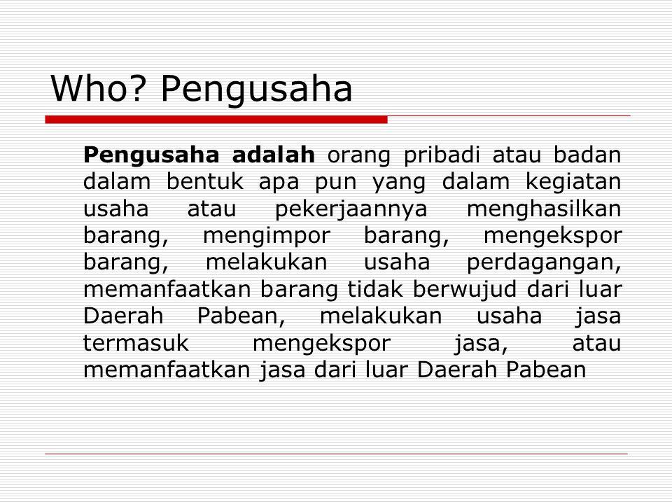 Who Pengusaha