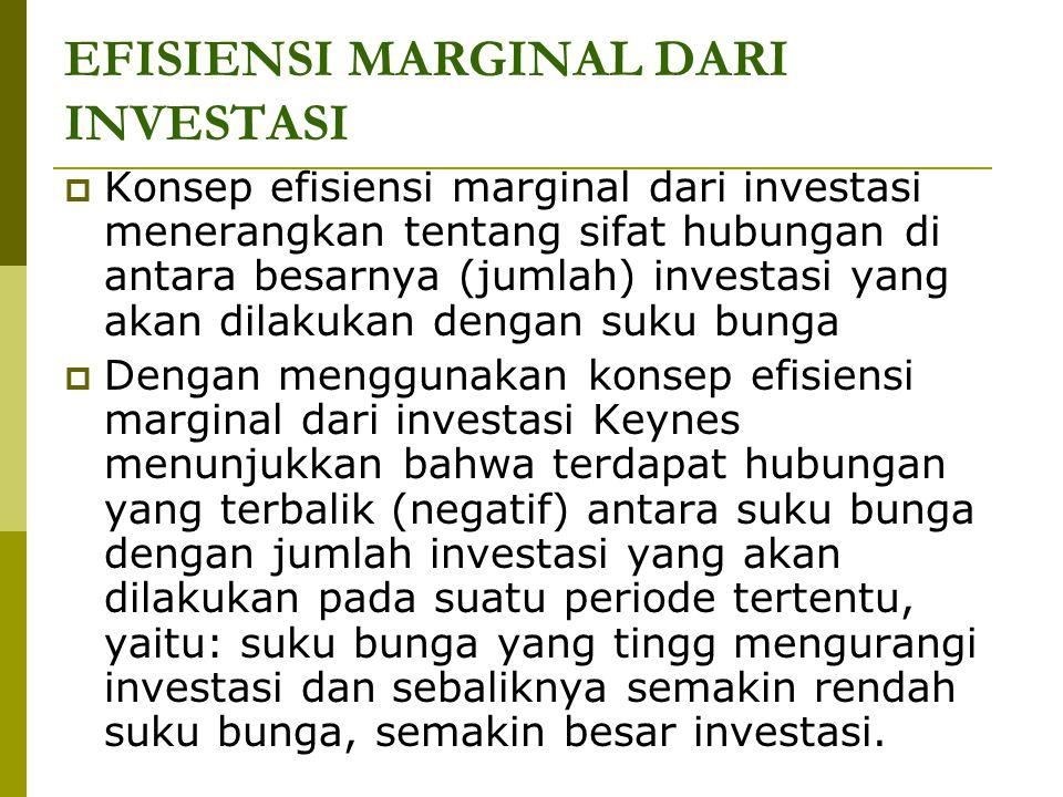 EFISIENSI MARGINAL DARI INVESTASI