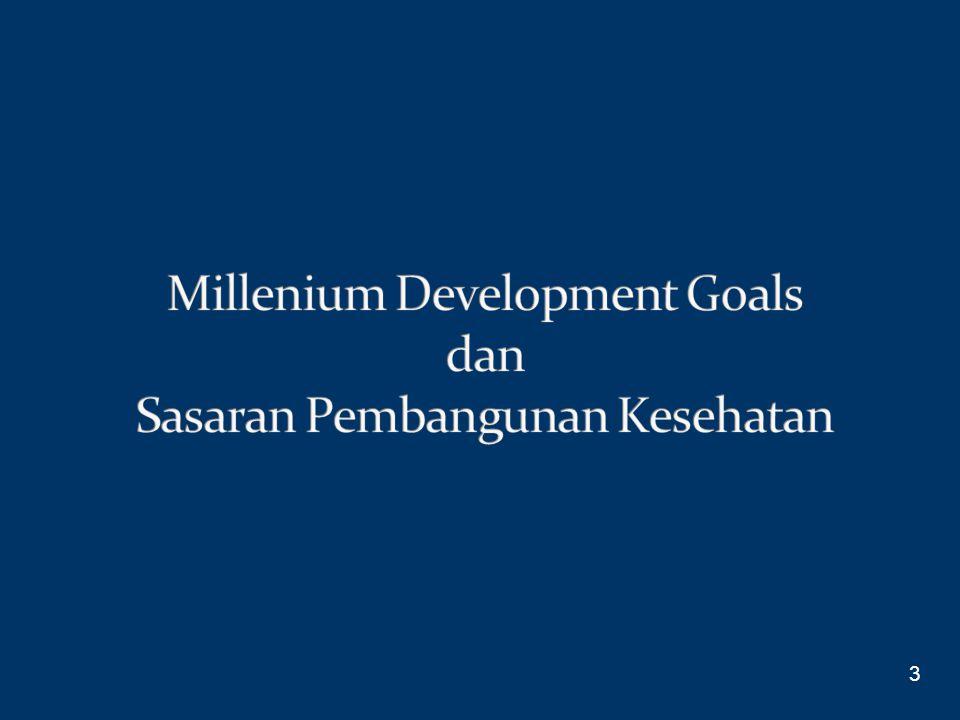 Millenium Development Goals dan Sasaran Pembangunan Kesehatan