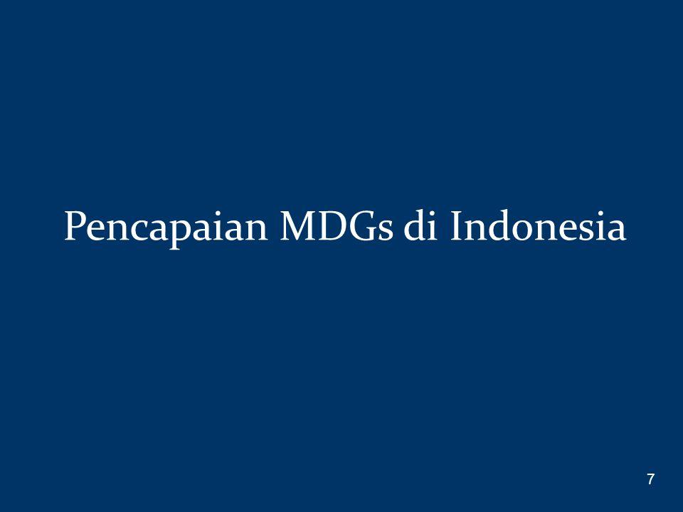 Pencapaian MDGs di Indonesia