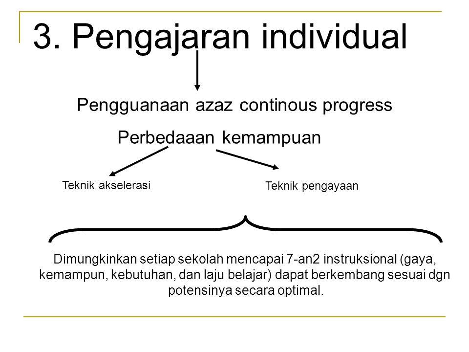 3. Pengajaran individual