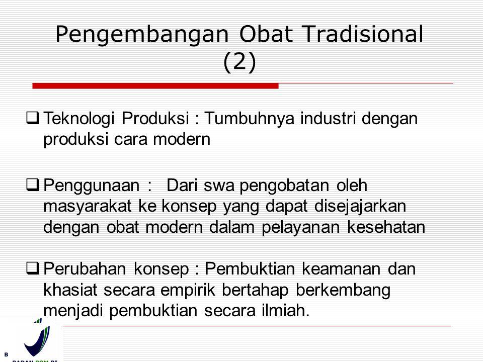 Pengembangan Obat Tradisional (2)