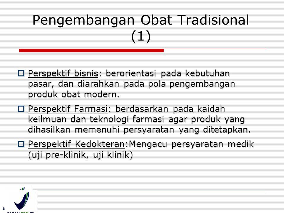 Pengembangan Obat Tradisional (1)