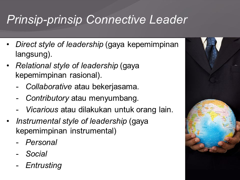 Prinsip-prinsip Connective Leader