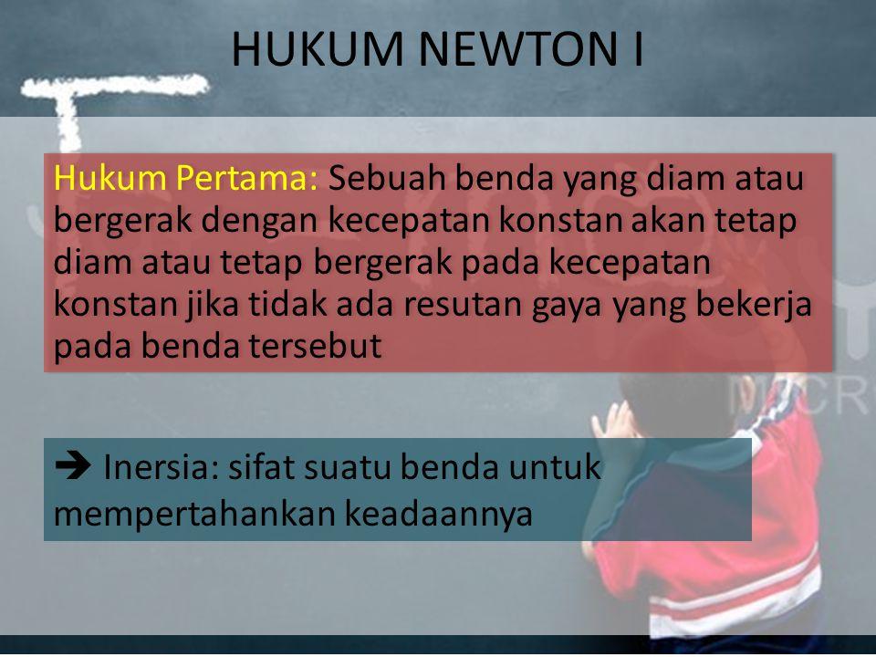 HUKUM NEWTON I