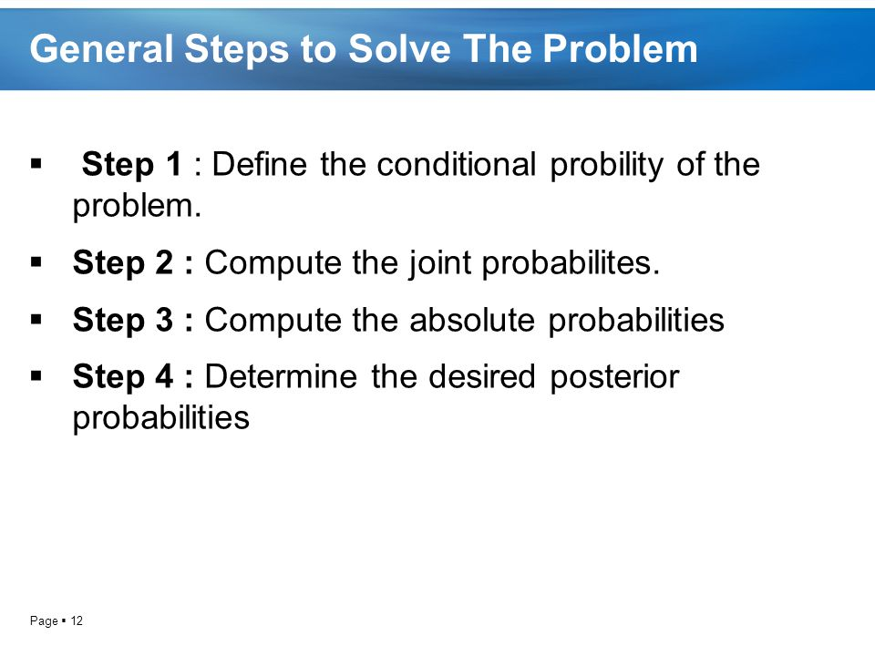 General Steps to Solve The Problem