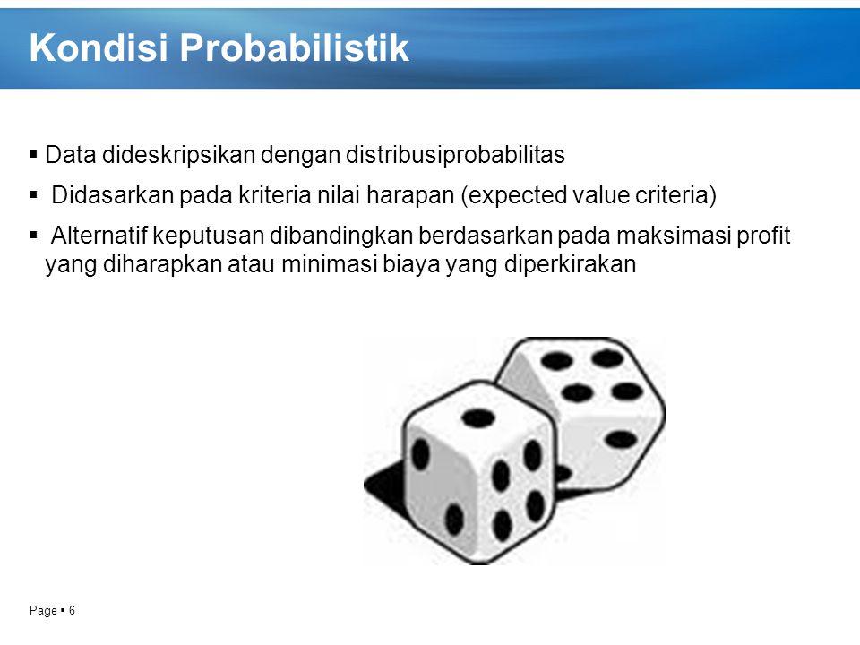 Kondisi Probabilistik