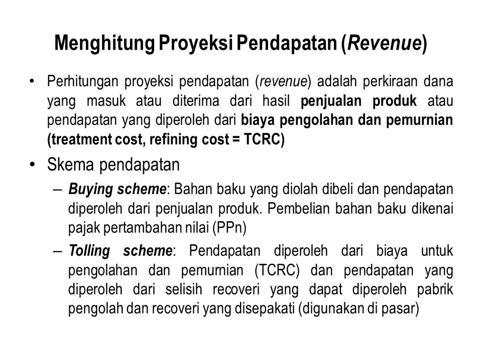 Menghitung Proyeksi Pendapatan (Revenue)