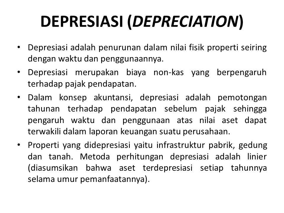 DEPRESIASI (DEPRECIATION)