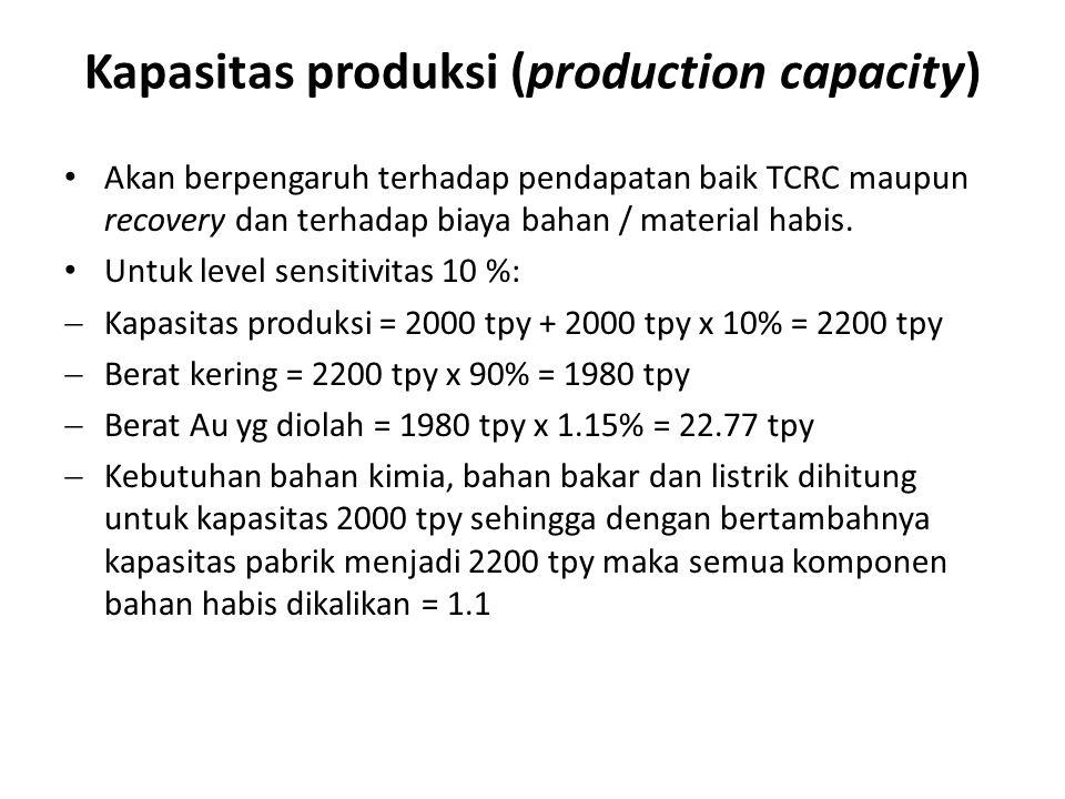 Kapasitas produksi (production capacity)