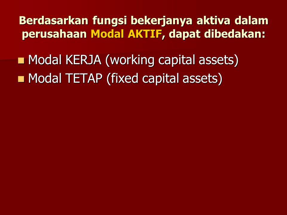Modal KERJA (working capital assets)