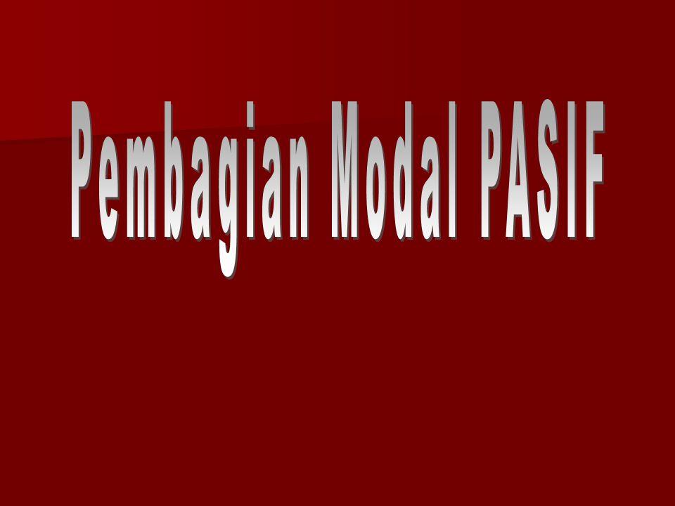 Pembagian Modal PASIF