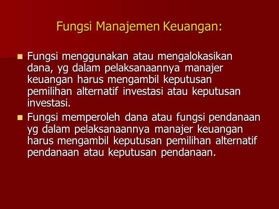 Fungsi Manajemen Keuangan: