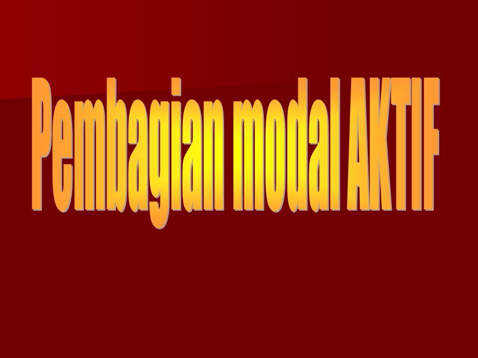 Pembagian modal AKTIF