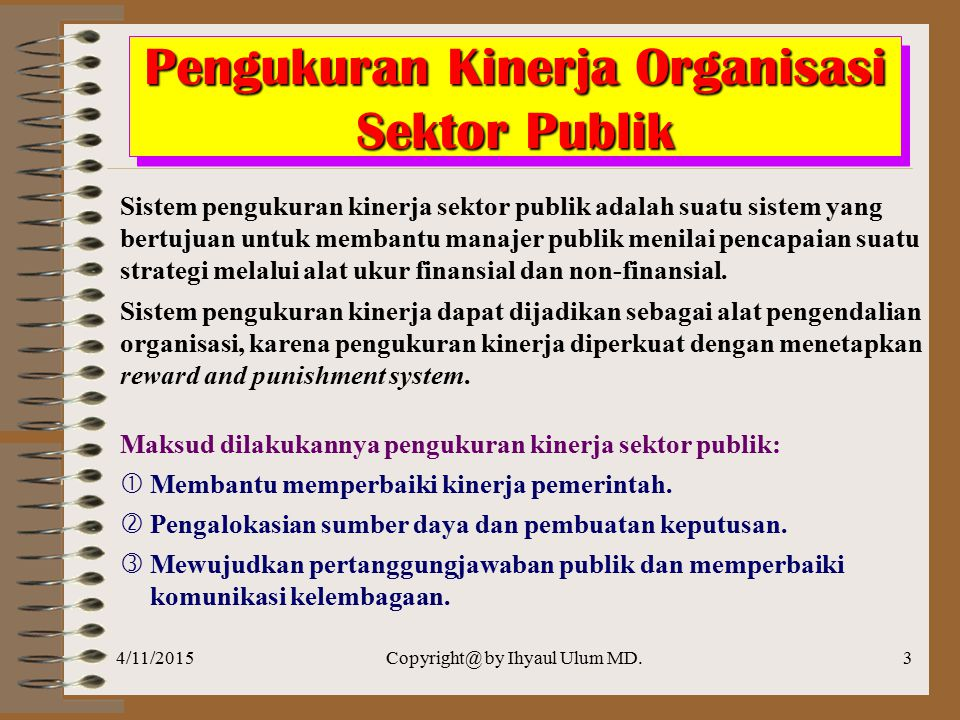 Pengukuran Kinerja Organisasi Sektor Publik