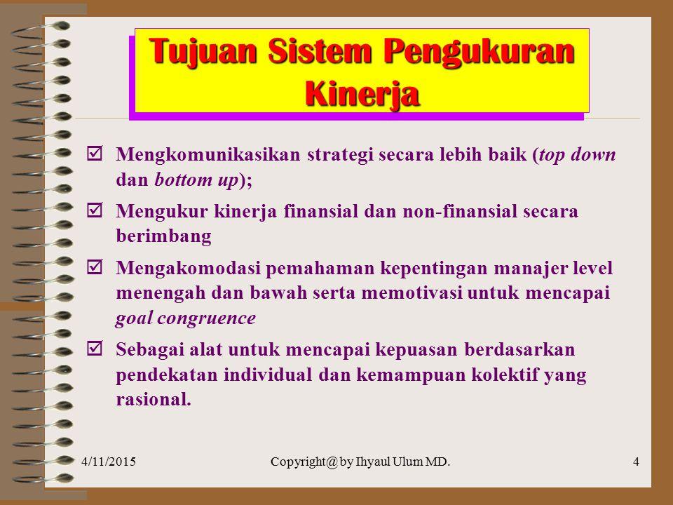 Tujuan Sistem Pengukuran Kinerja