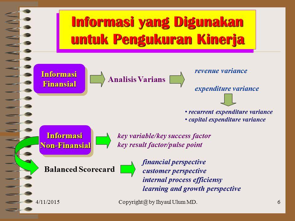 Informasi yang Digunakan untuk Pengukuran Kinerja