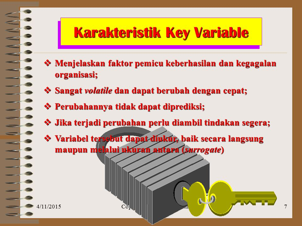 Karakteristik Key Variable