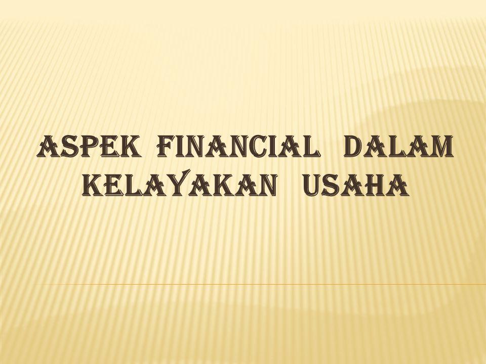 ASPEK FINANCIAL DALAM KELAYAKAN USAHA
