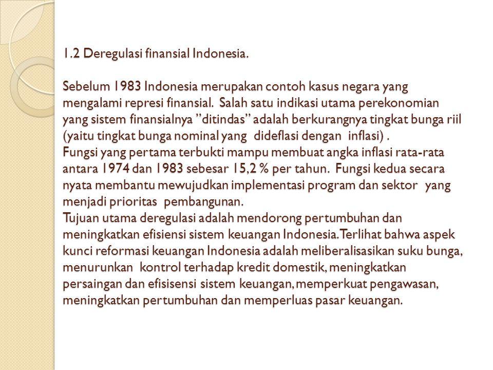 1. 2 Deregulasi finansial Indonesia