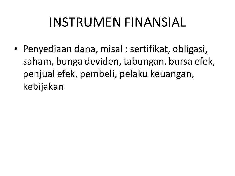 INSTRUMEN FINANSIAL