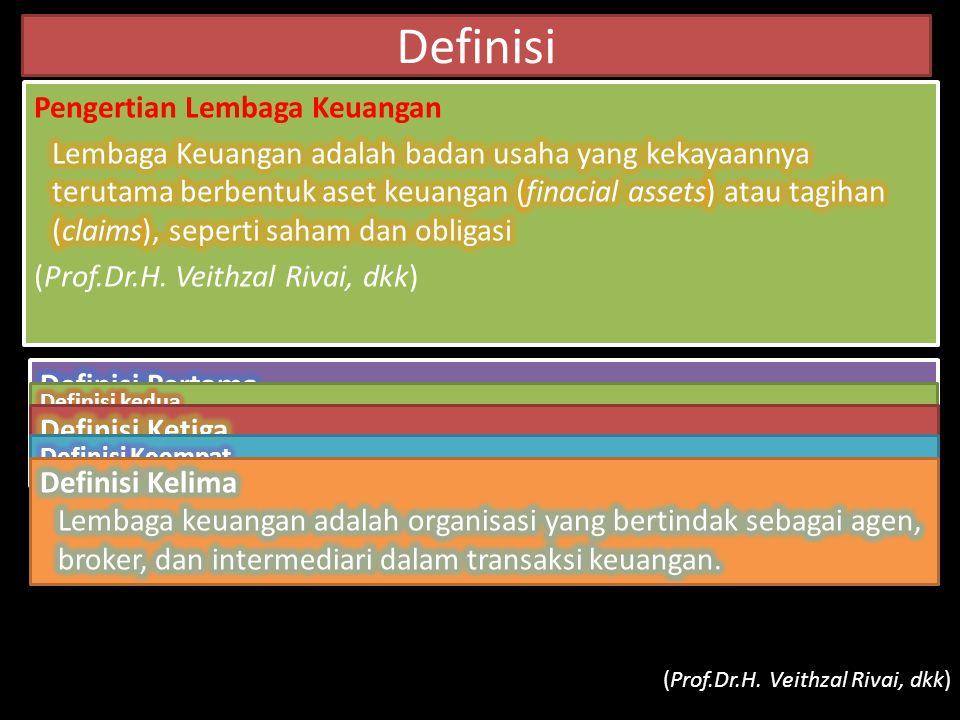 Definisi Pengertian Lembaga Keuangan