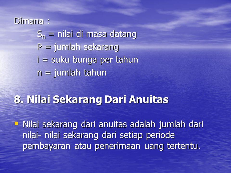 8. Nilai Sekarang Dari Anuitas