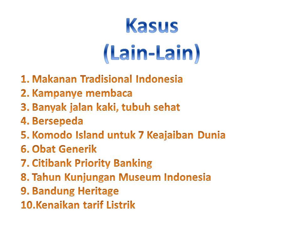 Kasus (Lain-Lain) Makanan Tradisional Indonesia Kampanye membaca