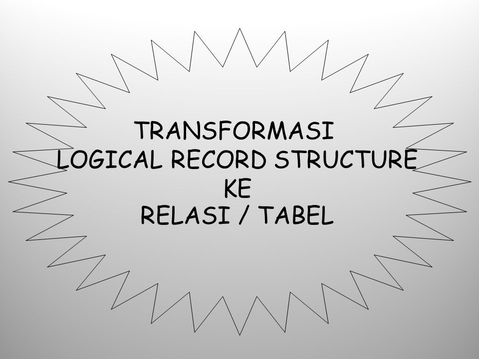 LOGICAL RECORD STRUCTURE