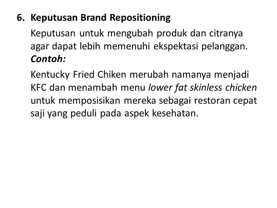 6. Keputusan Brand Repositioning