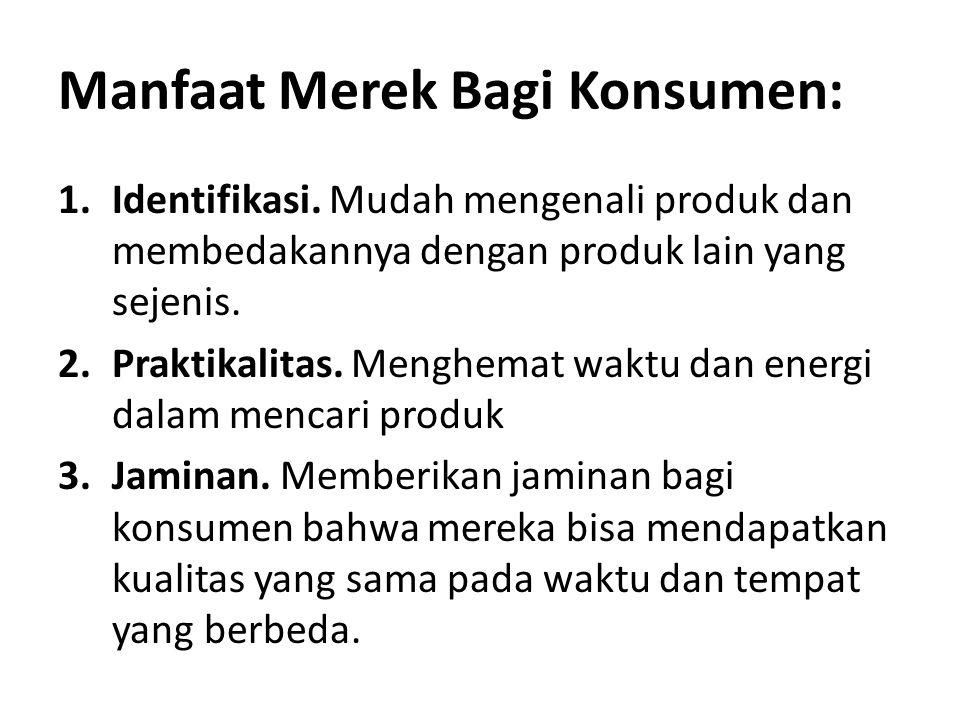 Manfaat Merek Bagi Konsumen: