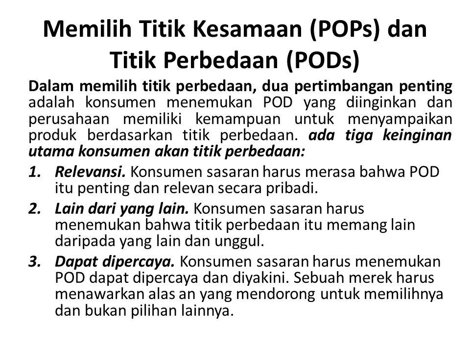 Memilih Titik Kesamaan (POPs) dan Titik Perbedaan (PODs)