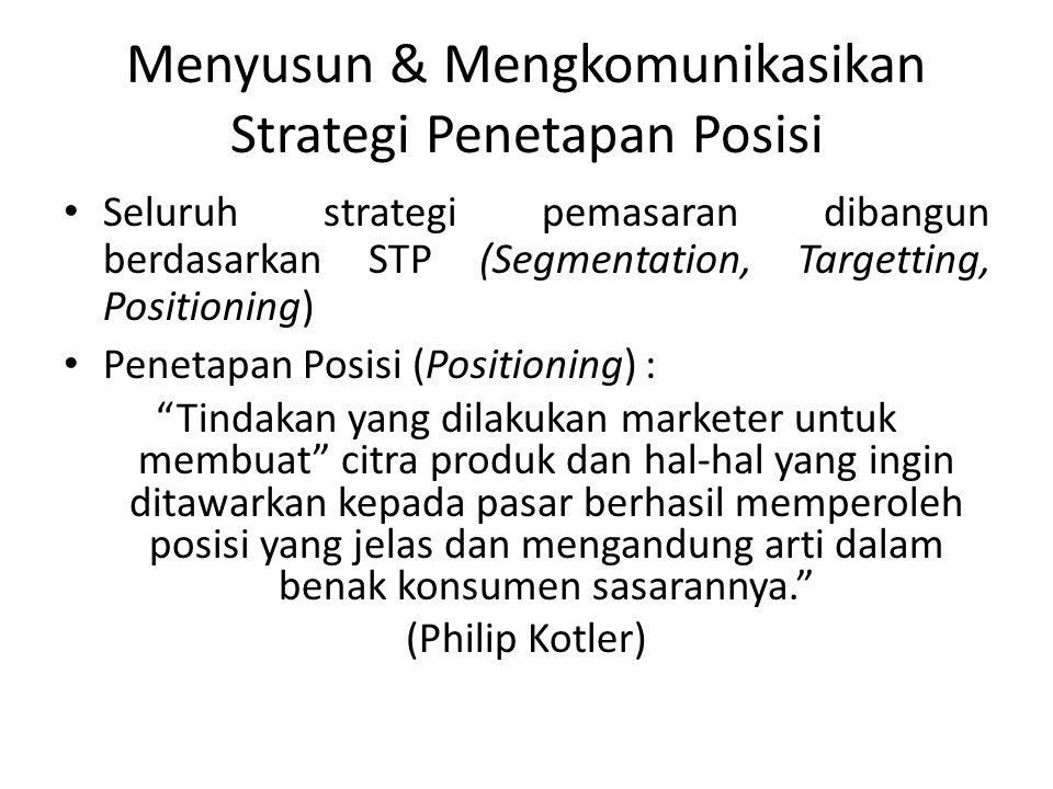 Menyusun & Mengkomunikasikan Strategi Penetapan Posisi