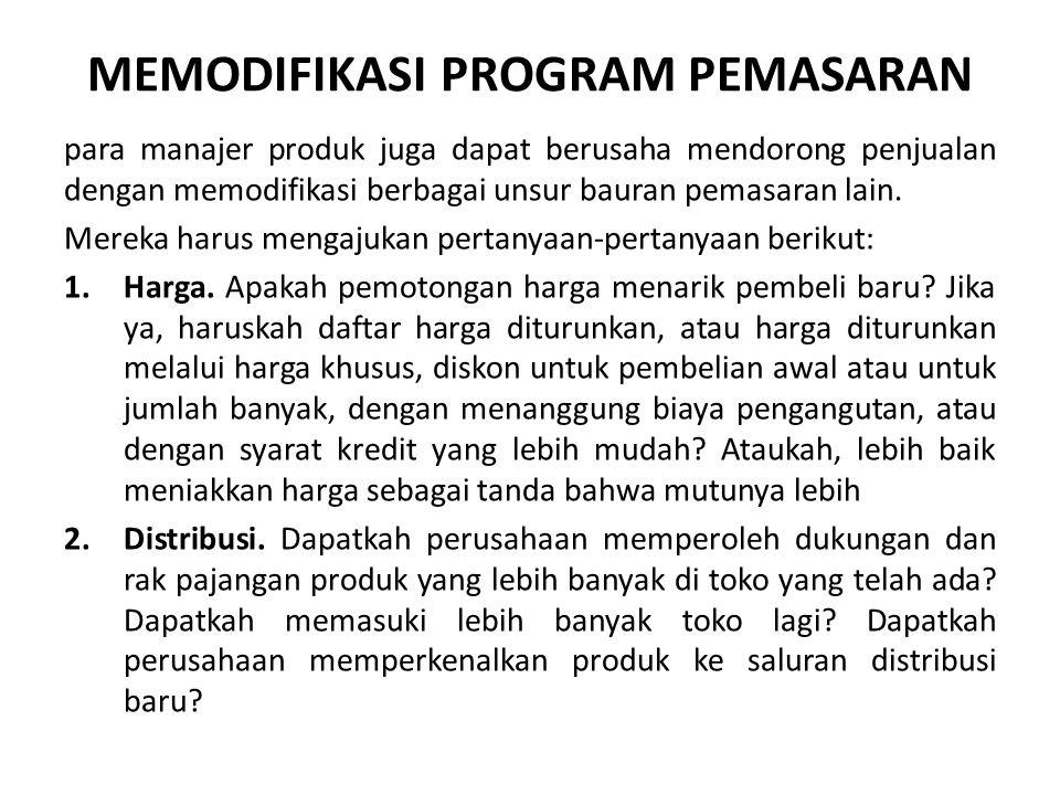 MEMODIFIKASI PROGRAM PEMASARAN
