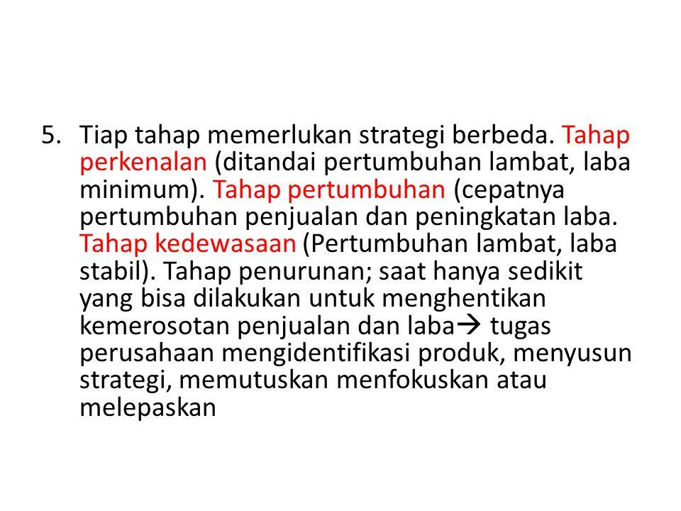 Tiap tahap memerlukan strategi berbeda