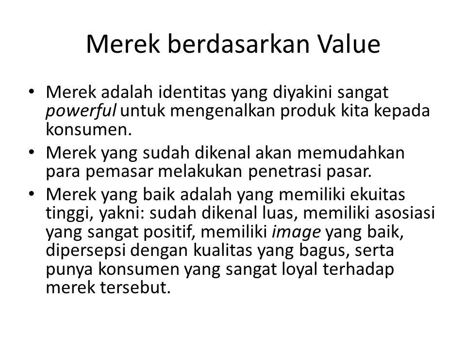 Merek berdasarkan Value