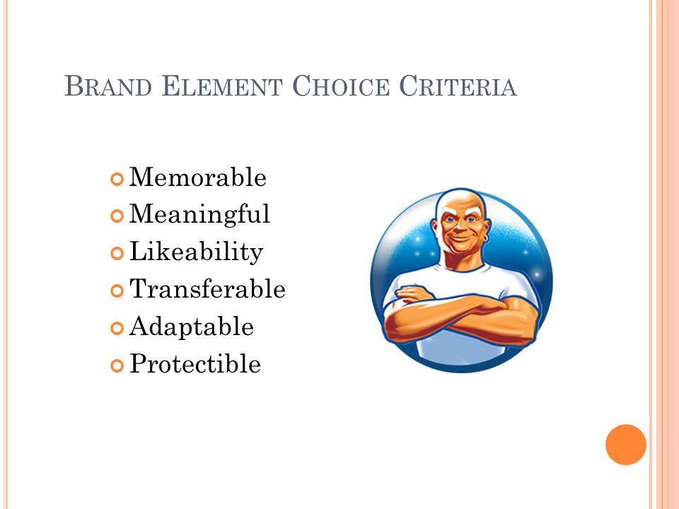 Brand Element Choice Criteria